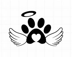Angel Wings Svg Baby Paw Print Svg Dog Pet Pawprint Svg Cat Lover Lady Mom Memorial Svg Files In 2020 Cat Paw Tattoos Paw Print Cat Lovers