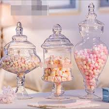 glass jar for candy bar or dessert