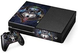 Amazon Com Skinit Decal Gaming Skin For Xbox One Console And Controller Bundle Officially Licensed Tate And Co Wolf Symbols Design Electronics