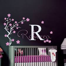 Girls Name And Initial Wall Decal Home Girls Bedroom Flower Tree Decorative Wall Sticker Diy Kids Bedroom Personalized Artw 378 Kids Bedroom Girls Bedroomname Wall Stickers Aliexpress