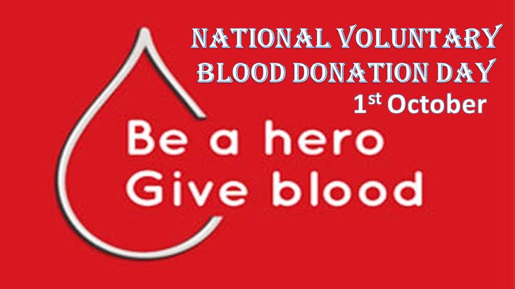 National Voluntary Blood Donation Day October 1