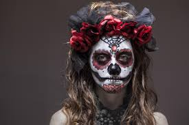 how to do sugar skull makeup day of