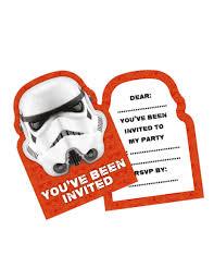 6 Tarjetas De Invitacion Stormtrooper Decoracion Y Disfraces
