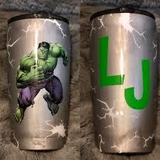 Hulk Painted Tumbler Tumbler Cups Diy Glitter Cups Diy Cups
