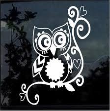 Owl Sticker Owl Tribal Decal A1 Custom Sticker Shop