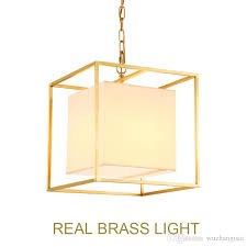 copper brass led pendant lamp