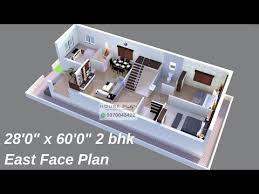 x 60 east face 2 bhk house plan