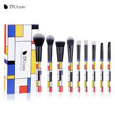 pcs mondrian makeup brush set