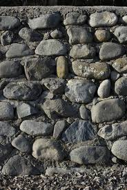how to build a rock wall with cement