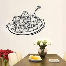 Amazon Com Wylcxx Pasta Wall Decal Window Decal Restaurant Italy Sticker Food Pizza Pasta Gourmet Vinyl Sticker Diy 57x42cm Kitchen Dining
