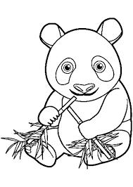 Tranh tô màu con gấu trúc tay cầm cành trúc « in hình này