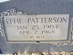 Effie Patterson (1904-1968) - Find A Grave Memorial