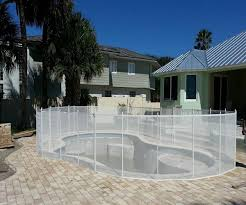 Pool Fences In Different Colors Black White Tan Brown Pool Fences