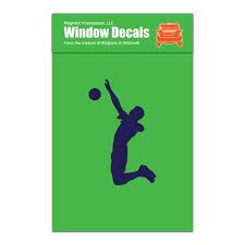 Volleyball Player Male Spike Car Window Decal Blue Walmart Com