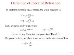 index of refraction презентация онлайн
