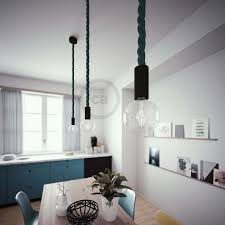 black painted wooden pendant lamp with