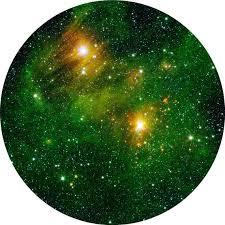 green galaxy circle wall decal wall dot
