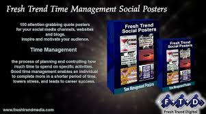 time management viral trending social media quote poster