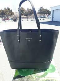 cole haan esme bucket black leather bag