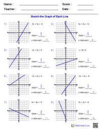 graphing standard form worksheets