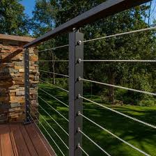 Cable Railing Systems Stainless Steel Cable Wiring For Decks Stairs Railings Outdoor Metal Deck Railing Cable Railing Systems