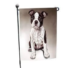 boston terrier dog garden flag boston