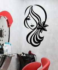 1525ig Vinyl Wall Decal Beautiful Girl Face Braids Hairstyle Earrings Stickers