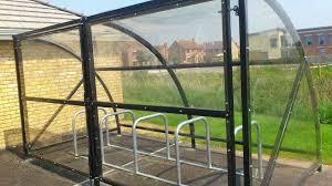 Bds Cycle Shelter 10 Space Cycle Shelter Bike Stands By Bike Dock Solutions