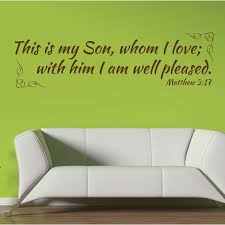 Matthew 3 17 Christian Wall Decal Divine Walls