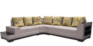 seater l shaped sofa with bookshelf by