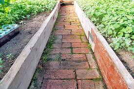 bricks in garden design