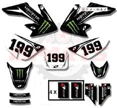 Monster 3m Crf 50 Graphics High Spec Decals Sticker Pit Dirt Bike Thumpstar Wpb Atv Motorcycle Go Kart Golf Cart Utv Minibike Bicycle Clutch