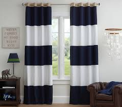 Rugby Blackout Curtain Panel Boys Room Curtains Kids Curtains Pottery Barn Kids Blackout Curtains