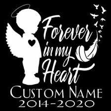 Custom In Loving Memory Boy Angel Vinyl Car Window Decal Sticker Name Rip Ebay