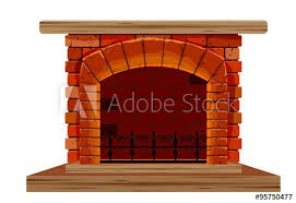 the old brick fireplace this