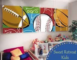 Sports Theme Boys Room Sports Room Decor Kids Sports Room Sports Room Boys