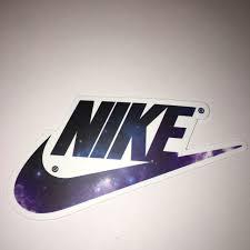 Galaxy Nike Logo Vinyl Sticker Sticks On Pretty Depop