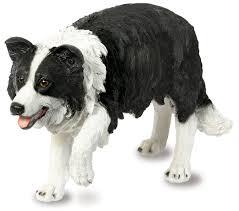 border collie sheep dog garden ornament