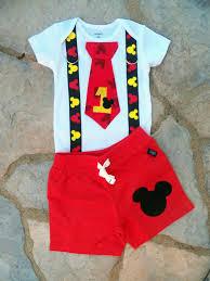 Mickey Mouse Inspirado Cumpleanos Corbata Y Tirantes Body Short