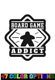 Vinyl Decal Truck Car Sticker Laptop Board Games Meeple Board Game Addict Ebay