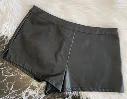 secret faux leather high waisted shorts
