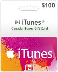 100 canada itunes gift card order us