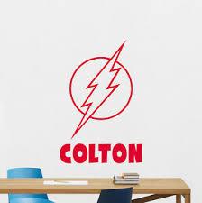 Personalized Flash Wall Decal Custom Name Vinyl Sticker Superhero Poster 175zzz Ebay