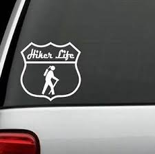 H1115 Hiker Life Girl Decal Sticker Hiking Camp Camping Tent Car Truck Suv Hike Ebay
