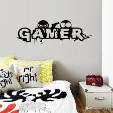 Creative Gamer Wall Sticker For Boy Childrens Room Decoration Mural Art Decals Wallpaper Cartoon Game Room Stickers Room Stickers For Kids Room Wall Decals From Lotlot 1 61 Dhgate Com