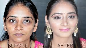 after indian make up transformation