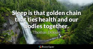thomas dekker sleep is that golden chain that ties