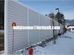 Perforated Metal Sound Barriers Road Noise Barrier Walls Soundproof Screen Fence