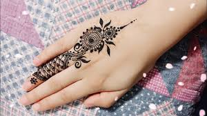 one finger mehndi design simple and easy