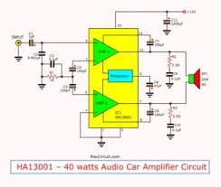 tda2009 lifier stereo 10w high